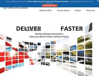 electric-cloud.com screenshot