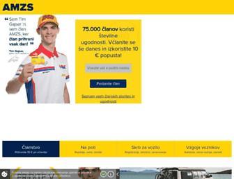 Main page screenshot of amzs.si