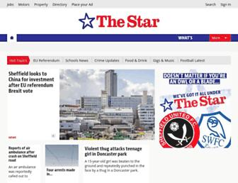 Main page screenshot of thestar.co.uk