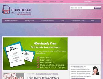 printableinvitationkits.com screenshot
