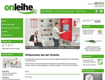 onleihe.de screenshot
