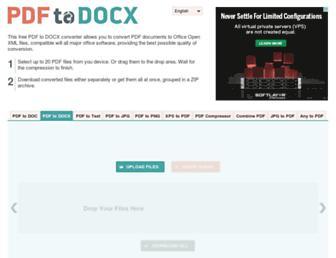pdf2docx.com screenshot