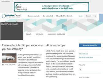 bmcpublichealth.biomedcentral.com screenshot