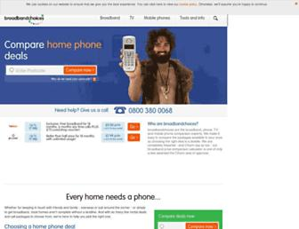 Main page screenshot of homephonechoices.co.uk