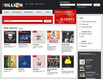 mp3million.com screenshot