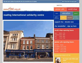 Main page screenshot of risc.org.uk