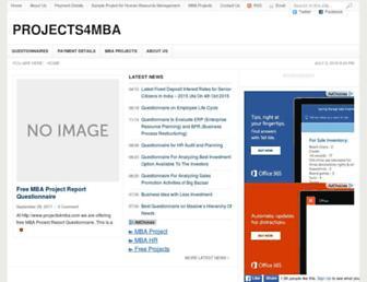 projects4mba.com screenshot