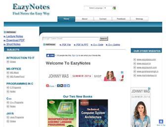 eazynotes.com screenshot