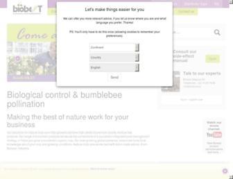 Main page screenshot of biobest.be