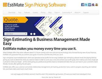 estimatesoftware.com screenshot