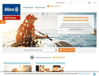 allianz-reiseversicherung.de screenshot