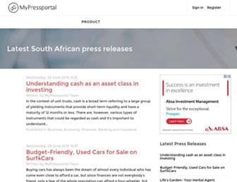 pressportal.co.za screenshot