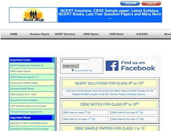 ncerthelp.com screenshot