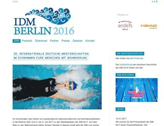 idm-schwimmen.de screenshot