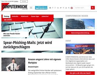 Main page screenshot of computerwoche.de