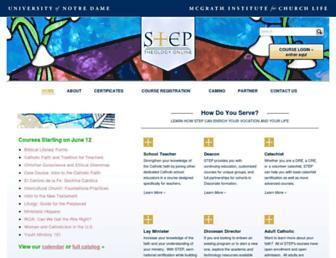 step.nd.edu screenshot
