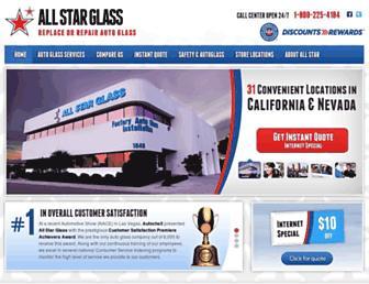 allstarglass.net screenshot