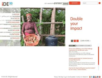 Main page screenshot of ideorg.org