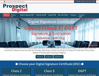 prospectdigital.in screenshot