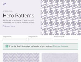 heropatterns.com screenshot