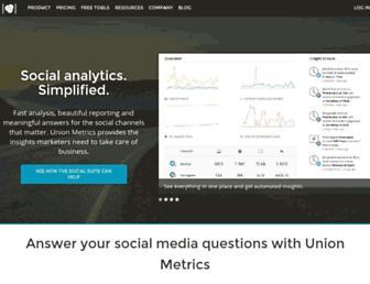 Thumbshot of Unionmetrics.com