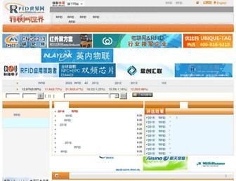 Main page screenshot of rfidworld.com.cn