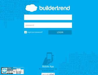 Main page screenshot of buildertrend.net