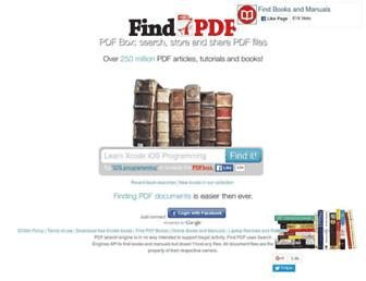 Main page screenshot of findpdf.net