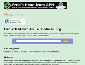 Main page screenshot of fredshead.info
