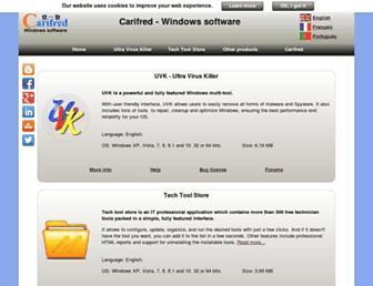 carifred.com screenshot