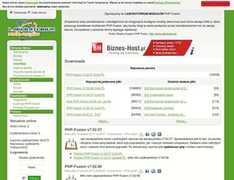 Main page screenshot of mods.php-fusion.pl