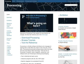 Thumbshot of Processing.org