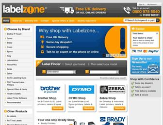 labelzone.co.uk screenshot