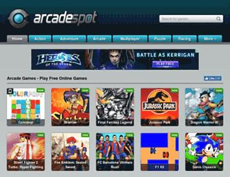 arcadespot.com screenshot