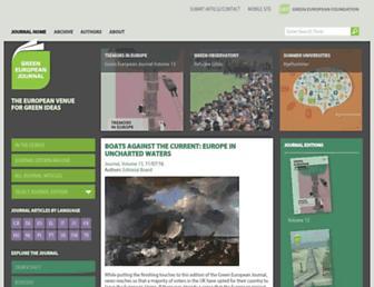 greeneuropeanjournal.eu screenshot