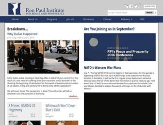 Thumbshot of Ronpaulinstitute.org