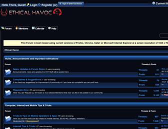 ethicalhavoc.net screenshot