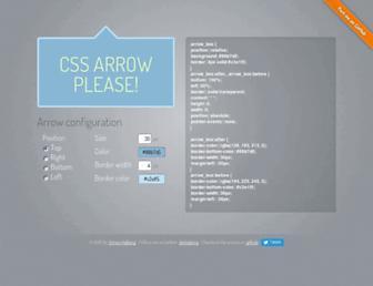 cssarrowplease.com screenshot