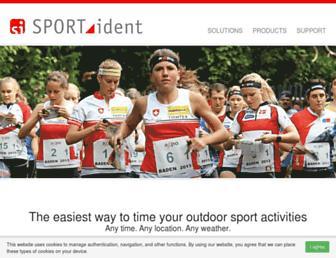 sportident.com screenshot