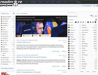 Main page screenshot of readmore.de