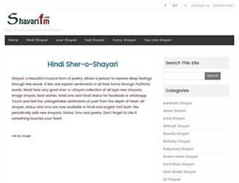 shayarifm.com screenshot