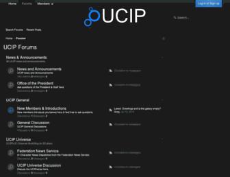 Main page screenshot of ucip.org