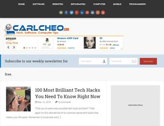 carlcheo.com screenshot