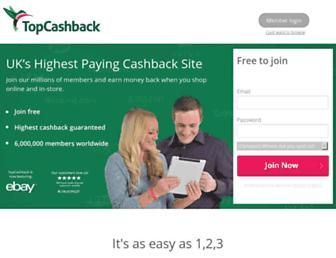 Thumbshot of Topcashback.co.uk