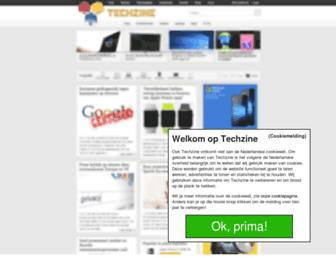Main page screenshot of techzine.nl