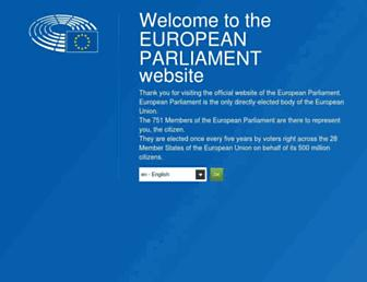 europarl.europa.eu screenshot