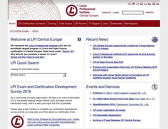 Main page screenshot of lpice.eu