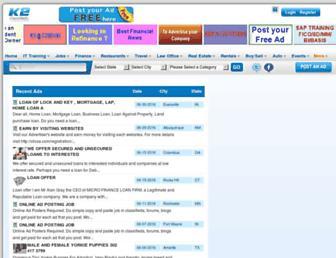 Thumbshot of K2classifieds.com