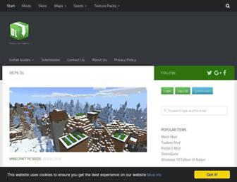 mcpedl.com screenshot