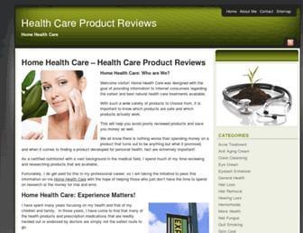 Main page screenshot of home-healthcare.net